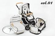 Детская коляска Dada Paradiso Group (DPG) Carino 3 в 1 Белая б/у