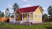 Каркасный Дом под ключ 8х8м по проекту Муокса