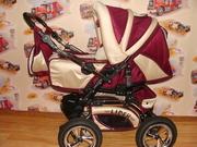 Продам детскую коляску (бордо)