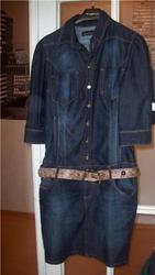 Стильное фирменное джинсовое платье
